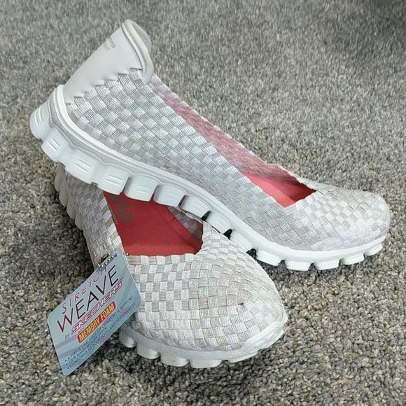 Skechers Stretch Weave Memory Foam Sneakers